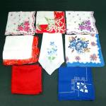 Click here to enlarge image and see more about item 11802-2: 8 Vintage Ladies Hankies Florals, Crochet, Embroidered