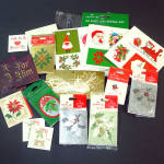 Click here to enlarge image and see more about item 11837: Assortment Sealed and Loose Hallmark Christmas Tags Gift Cards