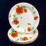 Mikasa Poppy Parade Dinner Plates - 4 Available