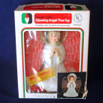 Click here to enlarge image and see more about item 11863-3: Double Glo 1976 Lighted Angel Christmas Tree Topper in Box