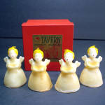 Box Tavern 1940s Christmas Angel Figural Candles