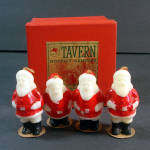 Click here to enlarge image and see more about item 11873: Tavern 1940s Christmas Santa Claus Candles in Original Box