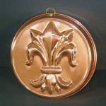 Click here to enlarge image and see more about item 11901: Copper Fleur de Lys Kitchen Food Mold