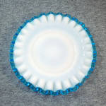 Click to view larger image of Fenton Aqua Crest 2 Bread or Dessert Plates (Image2)
