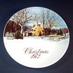 Click here to enlarge image and see more about item 11913: 1972 Smuckers Christmas Collector Plate, 1st in Series