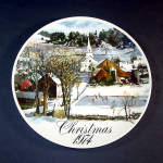 Click here to enlarge image and see more about item 11915: 1974 Smuckers Christmas Collector Plate, 3nd in Series