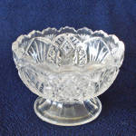 Click here to enlarge image and see more about item 11979-6: Higbee Arrowhead in Oval Madora EAPG Salt Dip Low Compote