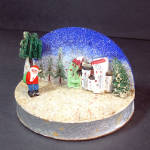 Click here to enlarge image and see more about item 11981: Japan Composition Santa Diorama Scene Christmas Display