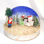 Click to view larger image of Japan Composition Santa Diorama Scene Christmas Display (Image4)