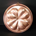 Click here to enlarge image and see more about item 11994-3: Copper Shamrock 4 Leaf Clover Kitchen Mold