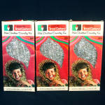 Click here to enlarge image and see more about item 12009: 3 Boxes Doubl Glo Silver Christmas Tinsel Garland