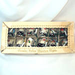 Box 1950s Italian Pine Cone Gnomes Elves Christmas Lights