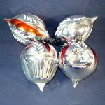 Click here to enlarge image and see more about item 12032: 1930s American Made Blown Glass Shapes Christmas Ornaments