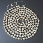 Click here to enlarge image and see more about item 12048-2: Silver Mercury Glass Beaded Christmas Garland 7 Feet
