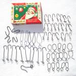 Click here to enlarge image and see more about item 12060: Box Antique and Specialty Metal Christmas Ornament Hangers Hooks