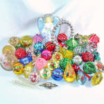 Big Lot 50 Mid Century Plastic Christmas Ornaments