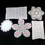 Click here to enlarge image and see more about item 12137: 6 Vintage Hand Crocheted Doilies