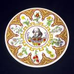 Click here to enlarge image and see more about item 12141: Wedgwood Flowers From Shakespeare 10 Inch Plate