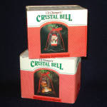 2 Crystal Bell Lil' Chimers Christmas Ornaments Mint in Boxes