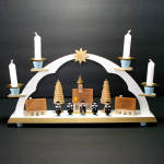 Erzgebirge German Wood Christmas Candle Arch