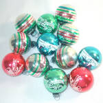 Click to view larger image of Box Shiny Brite Small Stencil, Stripes Glass Christmas Ornaments (Image4)