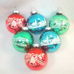Click to view larger image of Box Shiny Brite Small Stencil, Stripes Glass Christmas Ornaments (Image5)