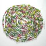 Click here to enlarge image and see more about item 12269-3: Faceted Mercury Glass Beaded Christmas Garland 16 Feet