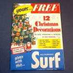 1952 Package Paper Christmas Ornaments Surf Laundry Soap Premium