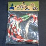 Click here to enlarge image and see more about item 12301: 1950s Package Shiny Brite Chenille Christmas Candy Canes