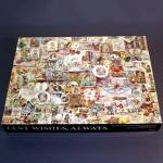 Click here to enlarge image and see more about item 12357: Best Wishes Always 1976 Springbok Antique Greeting Card Puzzle