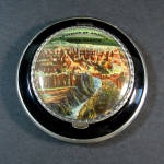Click here to enlarge image and see more about item 12390: 1930s Enameled Pictorial Grand Canyon Souvenir Powder Compact