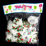 Click here to enlarge image and see more about item 12401: 1960s Soft Plastic Filigree Ornaments Christmas Garland Mint in Package