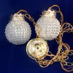 Chained Double Swag Pendant Lamps Draped Glass Shades