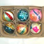 Box Poland Jumbo Blown Glass Christmas Ornaments