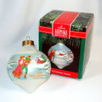 Click here to enlarge image and see more about item 12569: Hallmark 1991 First Christmas Together Glass Ornament