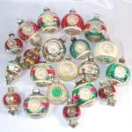Lot 20 Shiny Brite Premier Glass Double Indent Christmas Ornaments