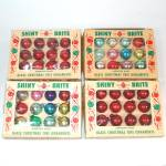 4 Boxes Shiny Brite Miniature Feather Tree Christmas Ornaments