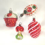 Click to view larger image of 15 Figural West German Glass Christmas Ornaments (Image5)