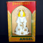 Click here to enlarge image and see more about item 12754: Paramount Illuminated Angel Christmas Tree Topper in Original Box