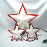 Click here to enlarge image and see more about item 12764: 3 Paramount Christmas Tree Top Light Up Stars
