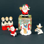 Ceramic Christmas Figures Lot of 5 Santa Choir Boys Pixie Wisemen