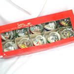 Box 1950s Italian Dome Diorama Scene Christmas Lights