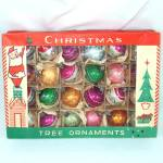 Click here to enlarge image and see more about item 12838: Box 24 Poland Miniature Blown Glass Christmas Ornaments