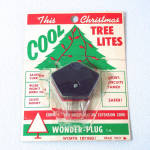 Click here to enlarge image and see more about item 12893: 1950s Christmas Lights Wonder Plug Current Saver