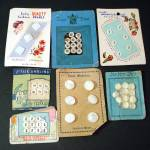 Click here to enlarge image and see more about item 12899: 7 Cards Vintage Antique Mother of Pearl Buttons