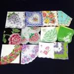 Click here to enlarge image and see more about item 12900: Lot 12 Vintage Ladies Hankies Mostly Florals