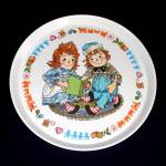 Click to view larger image of Raggedy Ann Andy Childs Melamine Dinnerware Set Mint in Box (Image3)