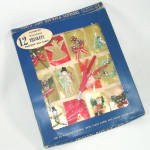 1950s Package Christmas Gift Cards 3D Figures