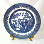 Click here to enlarge image and see more about item 13232: Churchill England Blue Willow Dinner Plate, 3 Available
