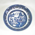 Click here to enlarge image and see more about item 13299: Churchill Blue Willow Round Vegetable Serving Bowl